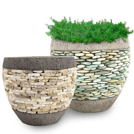Pebble Pot Planters